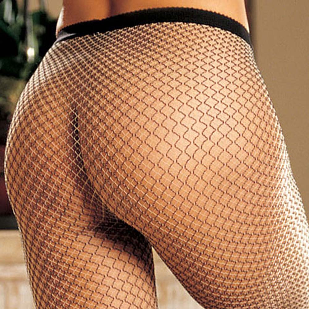 Two Tone Mesh Leggings Black - View #4