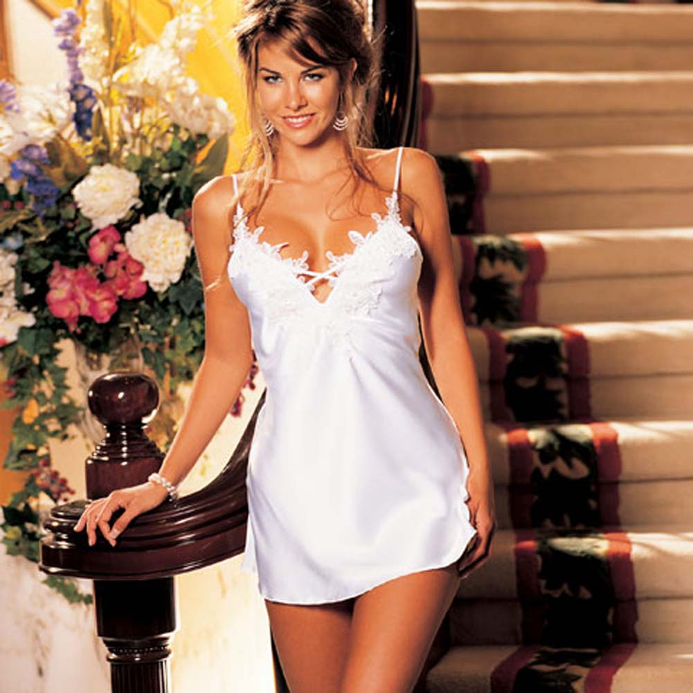 Innocent Charmeuse Chemise White Size Small - View #2