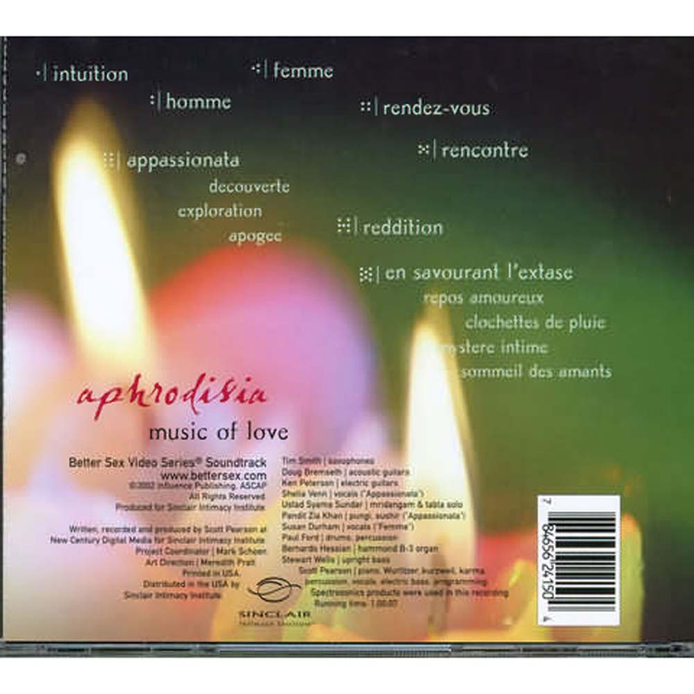 Aphrodisia Music of Love Audio CD of Sensual Moodmaking Music - View #1