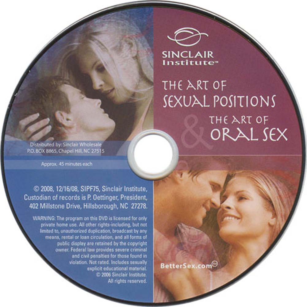 Art of Sexual Positions and the Art of Oral Sex DVD - View #1