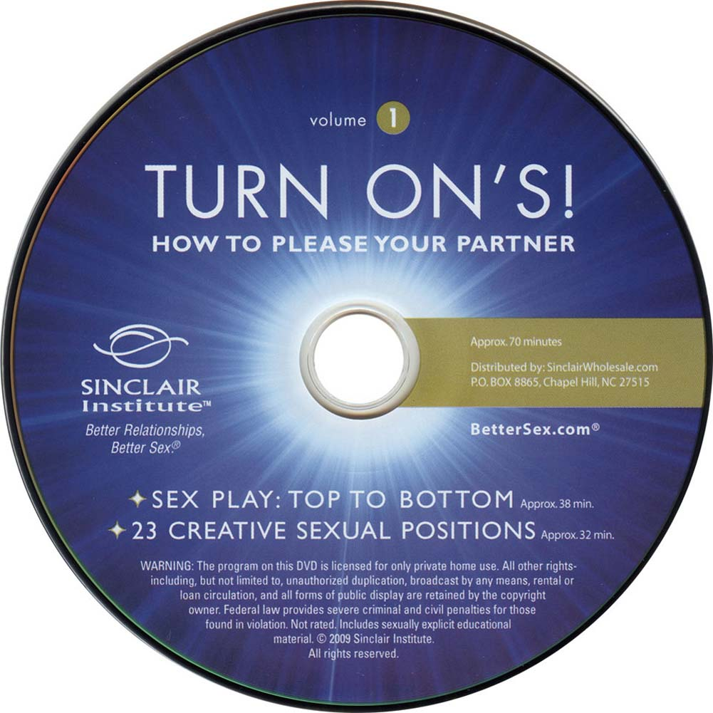 Turn Ons Vol. 1 How to Please Your Partner DVD - View #1