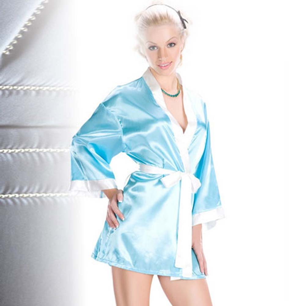 Relaxing Robe with Contrasting Trim - View #1