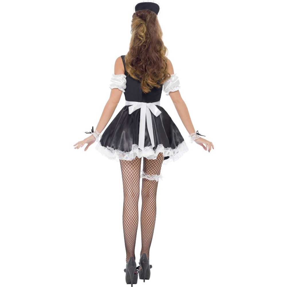 Smiffys French Maid Set One Size Black/White - View #2