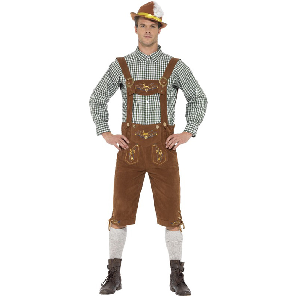 Traditional Deluxe Hanz Bavarian Costume Large - View #1