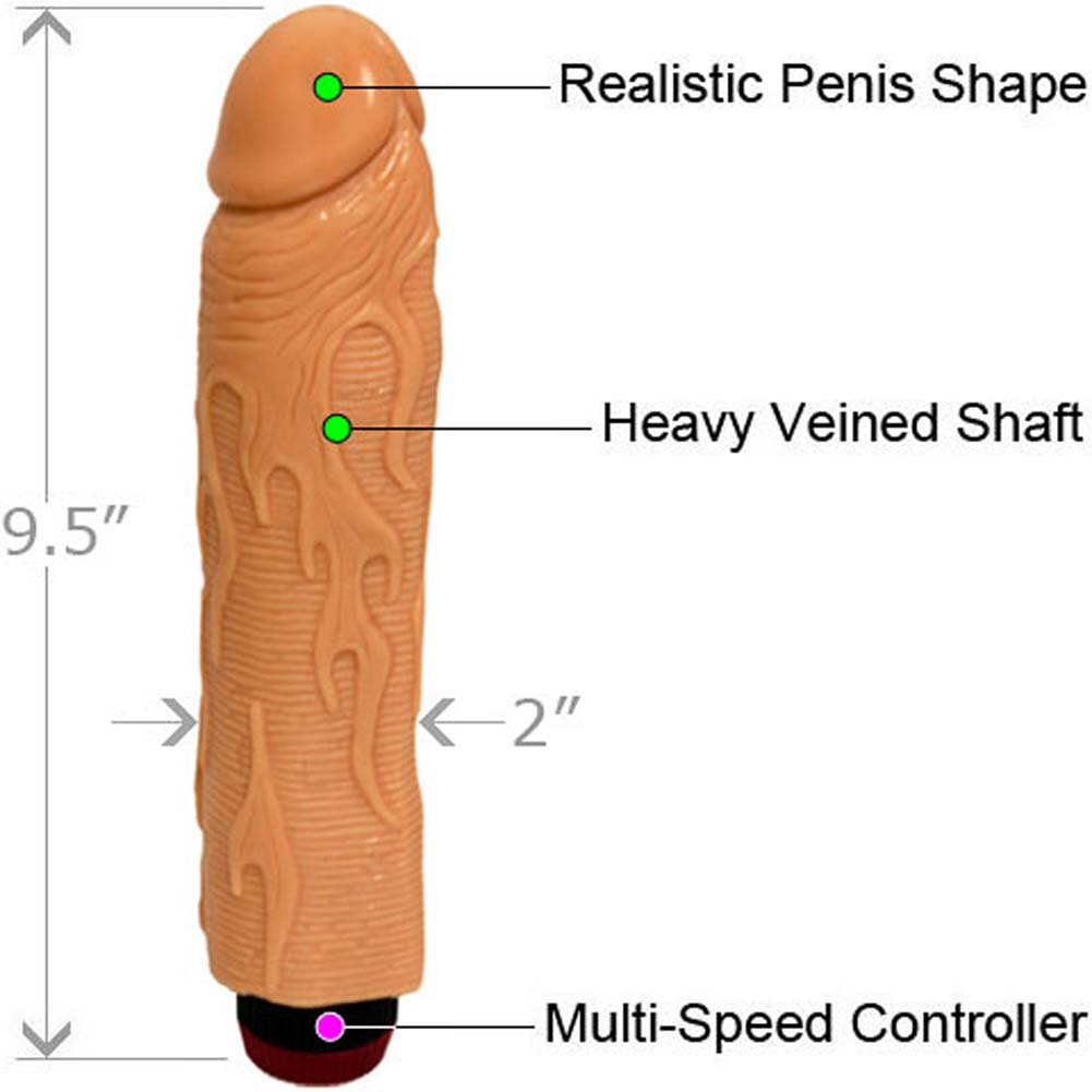 "Ignite Hot Rod Vibrating Dong 8"" Natural Flesh - View #1"