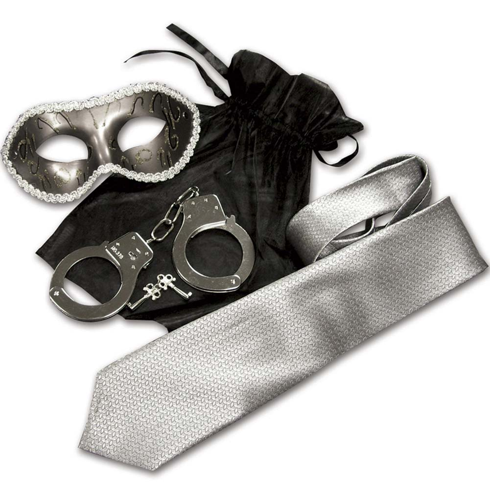 Sex and Mischief SM SHADES Trilogy Light Bondage Kit Silver - View #2