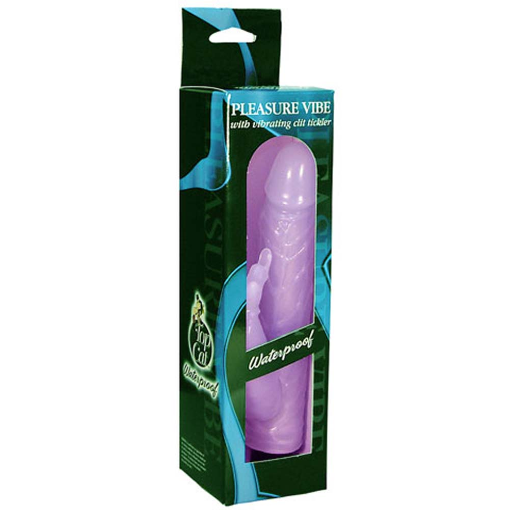 Waterproof Pleasure Vibe with Clit Tickler Jelly Purple 7 In - View #1