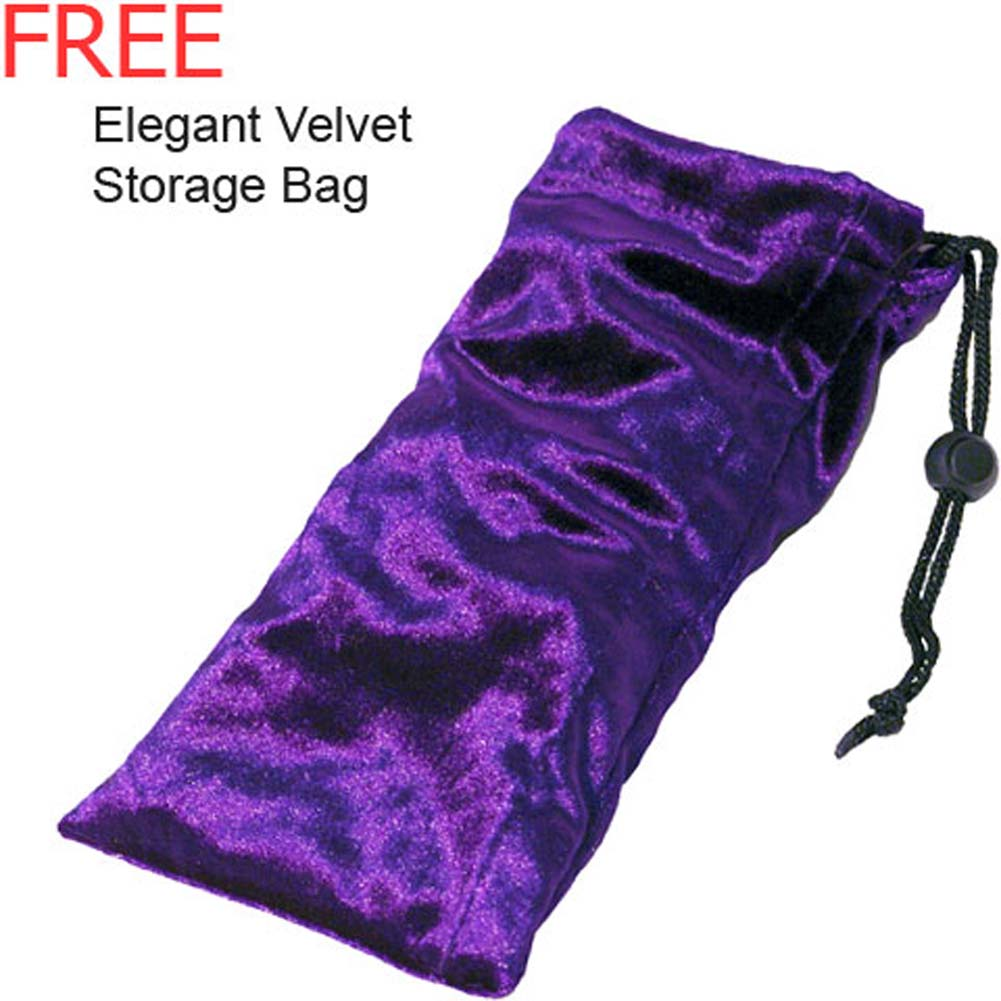 "Dual Sensation Ametrine Glass Dildo with Storage Bag 8"" - View #3"