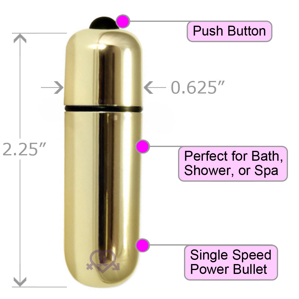 "OptiSex Ultra Powerful Waterproof Love Bullet Vibrator 2.25"" Gold - View #1"