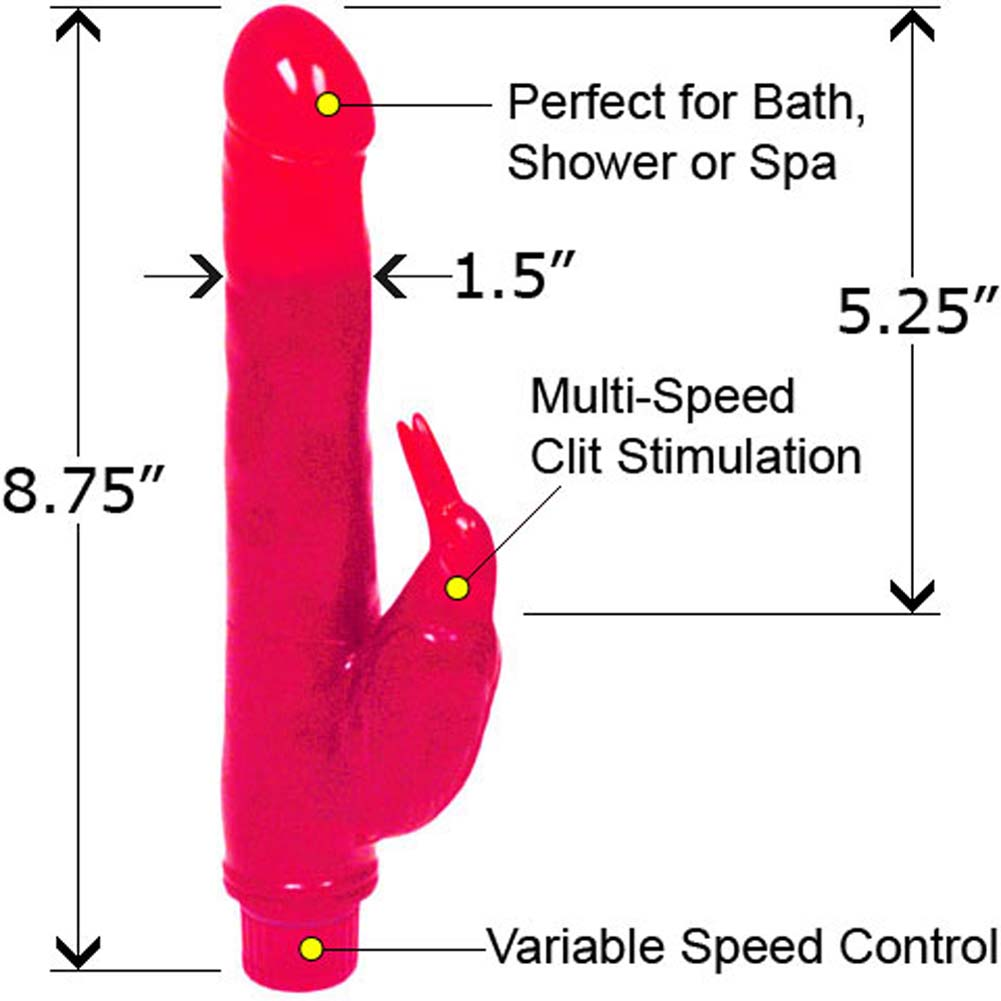 "Bath Tub Birdie Waterproof Vibe 8.75"" Pink - View #1"