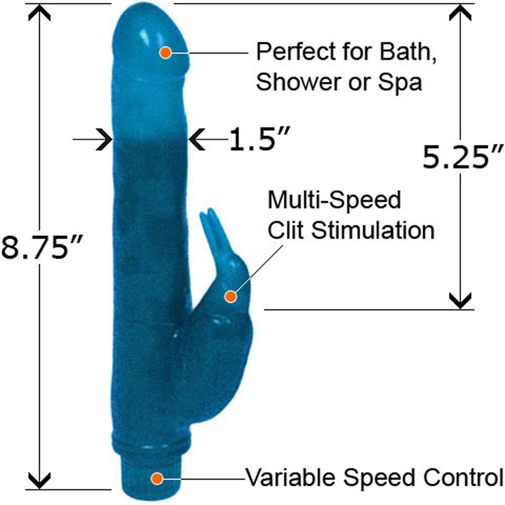 "Bath Tub Birdie Waterproof Vibe 8.75"" Cool Blue - View #1"