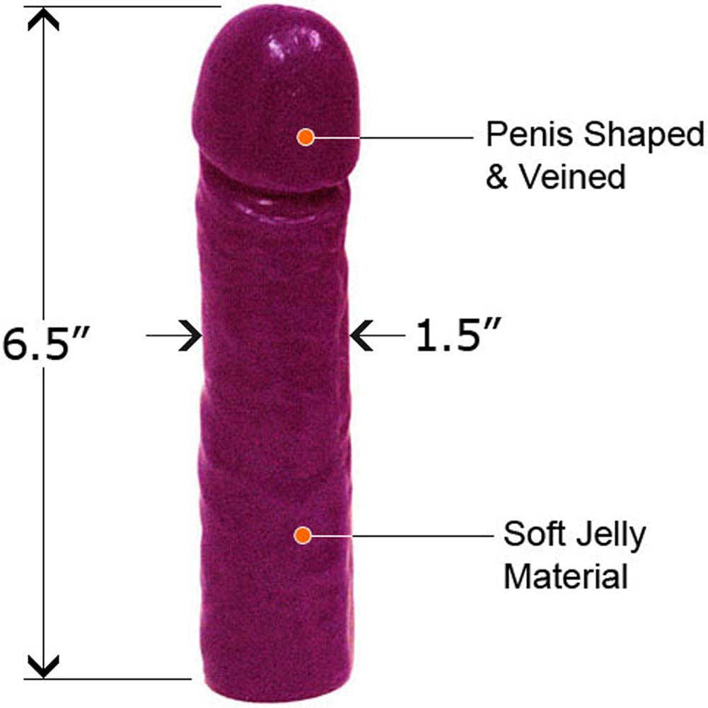 "Classic Straight Jelly Dong 7"" Purple - View #2"