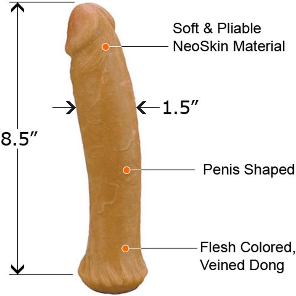 "Straight NeoSkin Dong 8.5"" Cinnamon - View #1"
