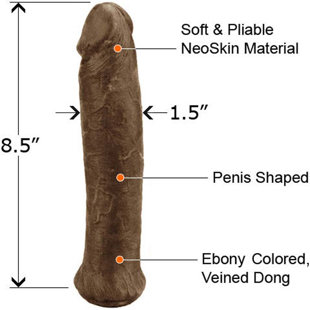 "Straight NeoSkin Dong 8.5"" Ebony - View #1"
