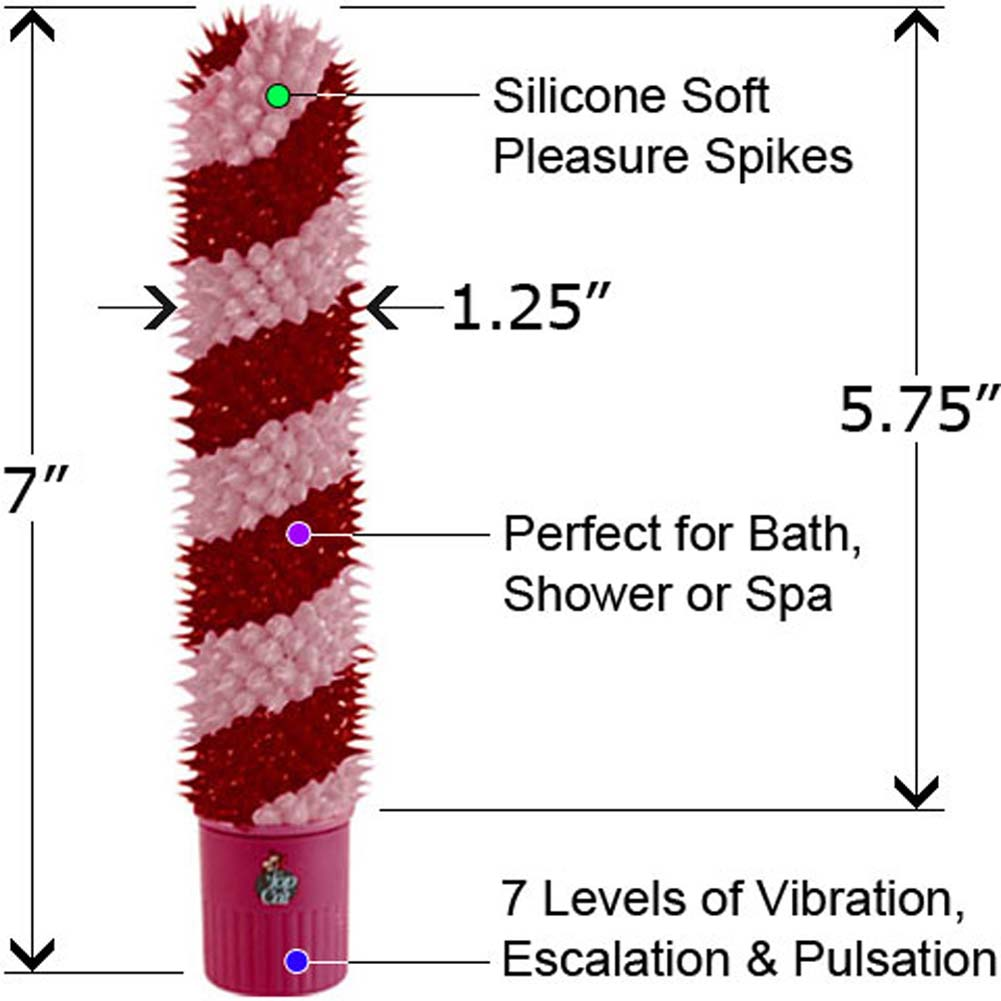 "Lovers Delight 7 Functions Push Button Silicone Personal Vibrator 7"" - View #1"