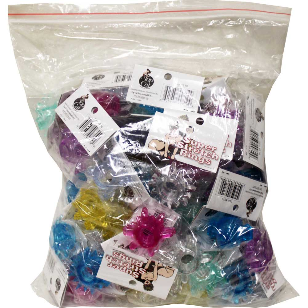 Super Stretch Erotic Silicone Cock Rings 72 Piece Bag - View #2