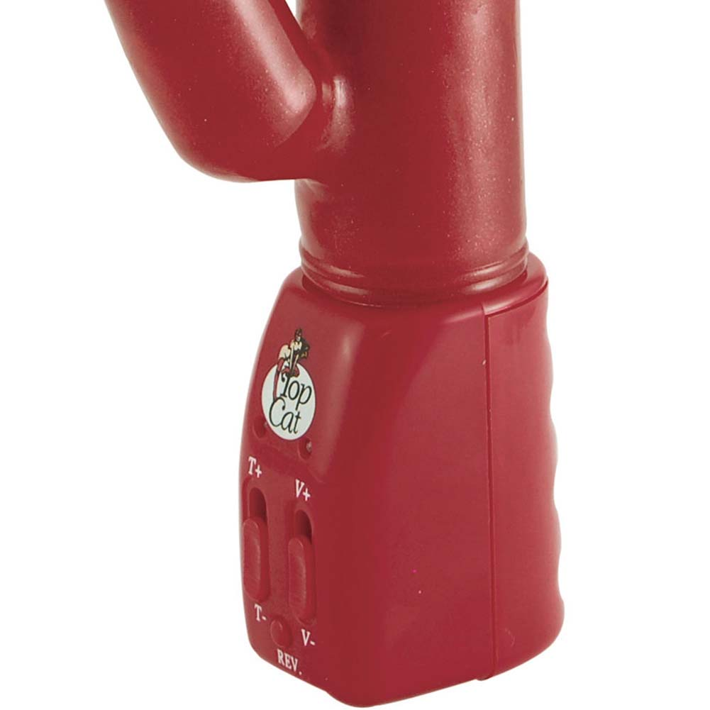 """Ecstasy Double Play Vibrator 9.5"""" Red - View #3"""