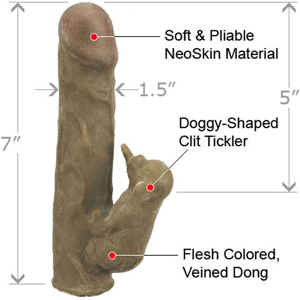 "Life Like NeoSkin Dong with Clit Tickler Stimulator 7"" Assorted Colors - View #1"