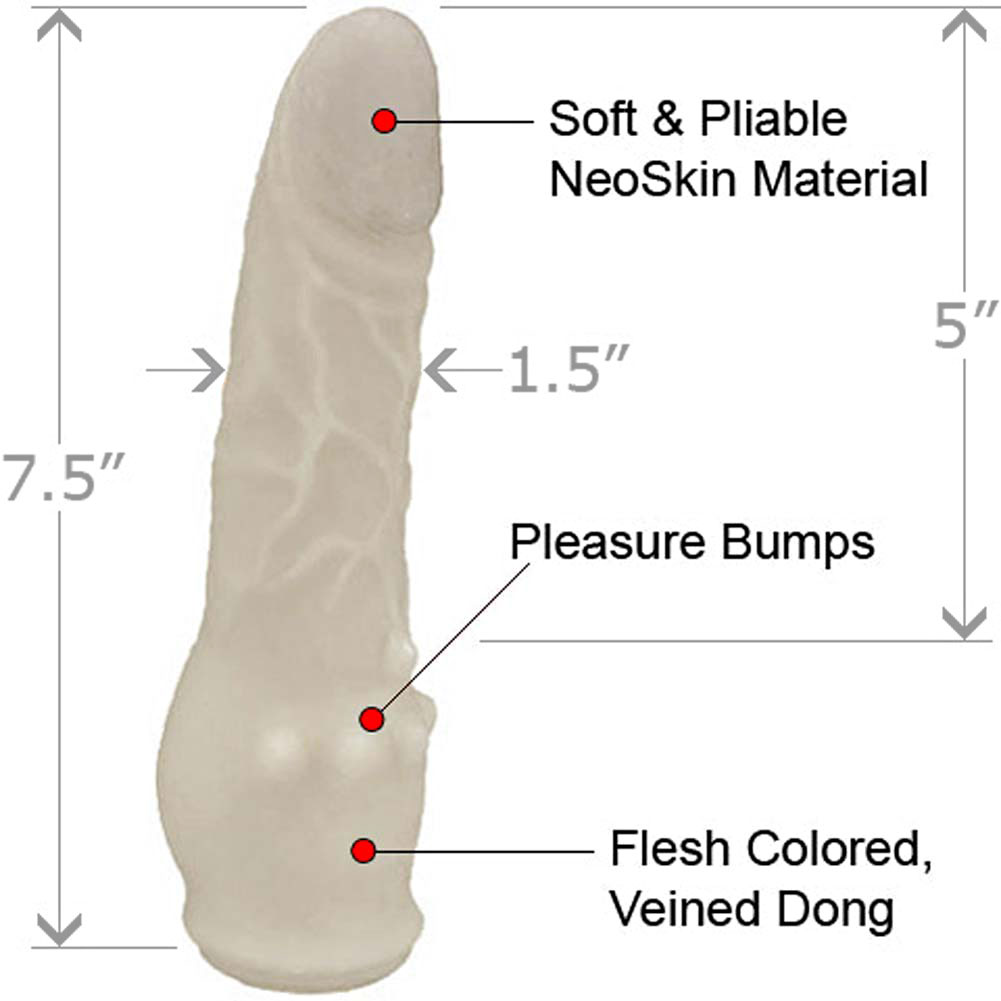 "Clitterific NeoSkin Dong with Clitoral Bumps 7.5"" Ivory - View #1"