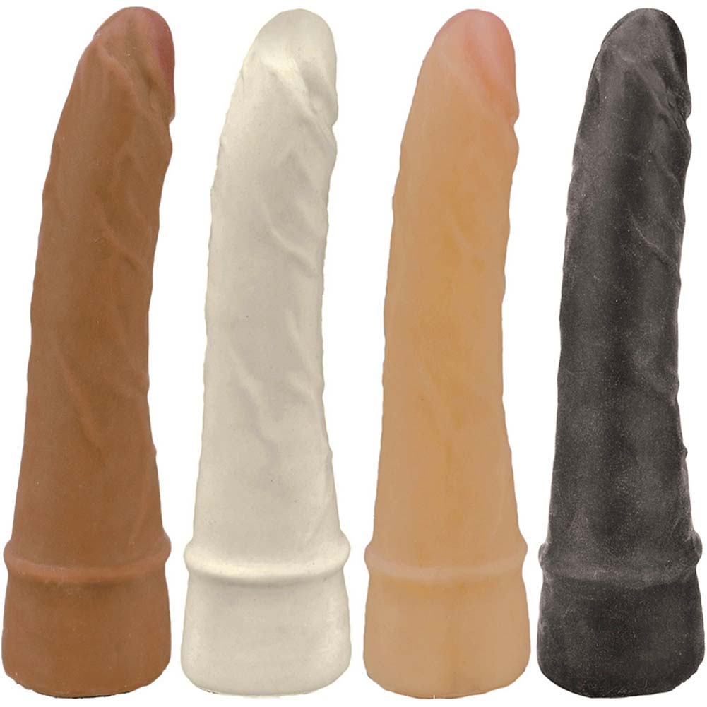 "Slim NeoSkin Dong with Stimo Ring 7"" ASSORTED COLORS - View #2"