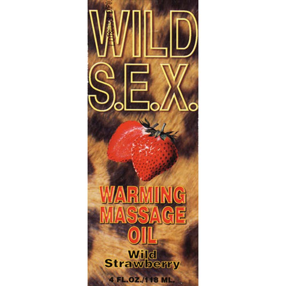 Wild S.E.X. Warming Massage Oil Wild Strawberry 4 Fl. Oz. - View #2