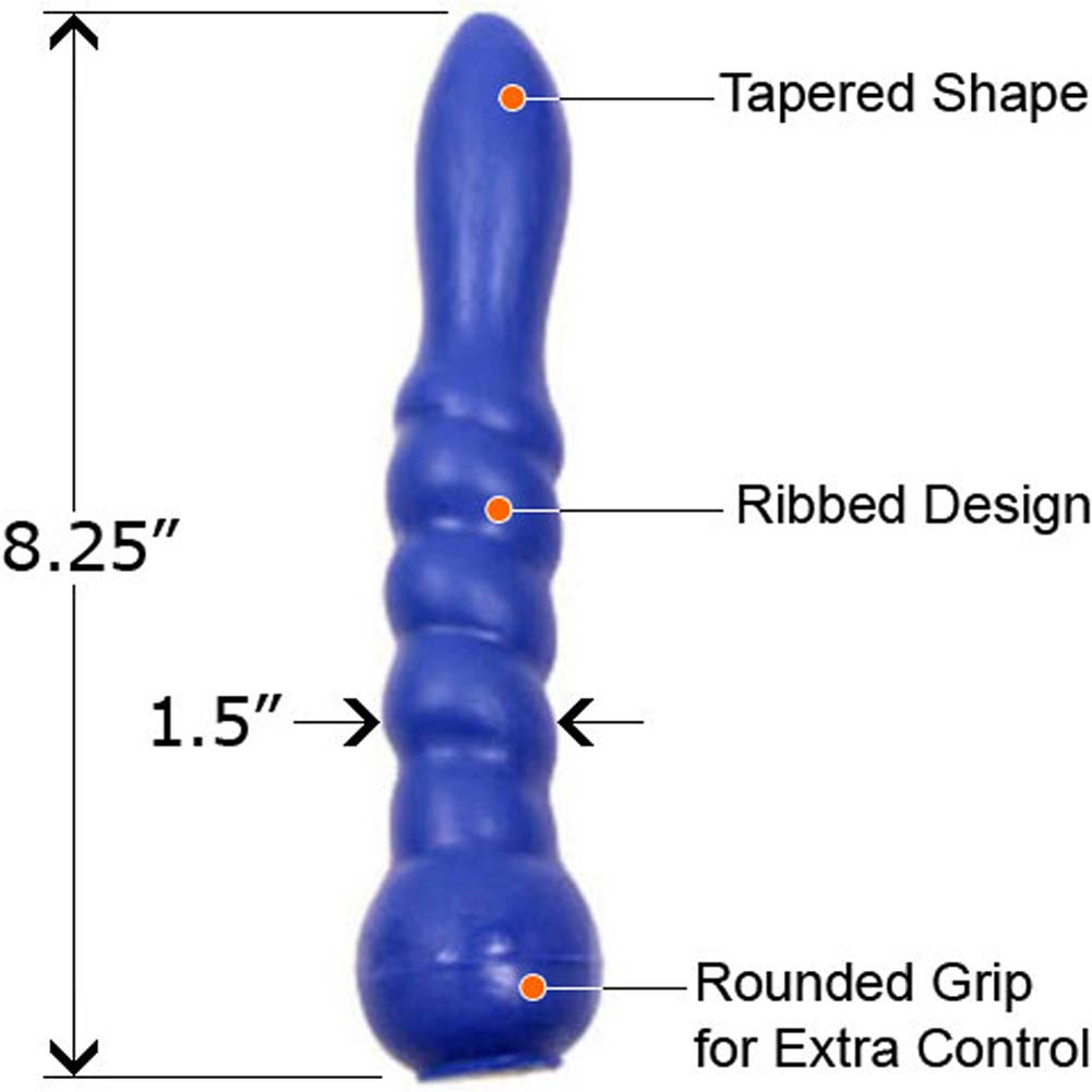 "SensaFirm Live and Raw Dildo 8.25"" Electric Blue - View #1"