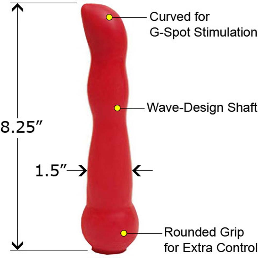 "SensaFirm Live and Raw G-Spot Dildo 8.25"" Red - View #1"