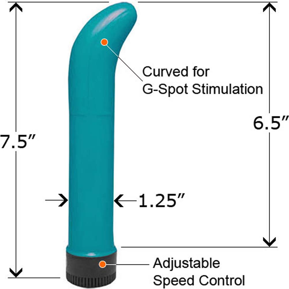 "G-Spot Fantasy Vibrating Massager 7.5"" Pearl Blue - View #1"
