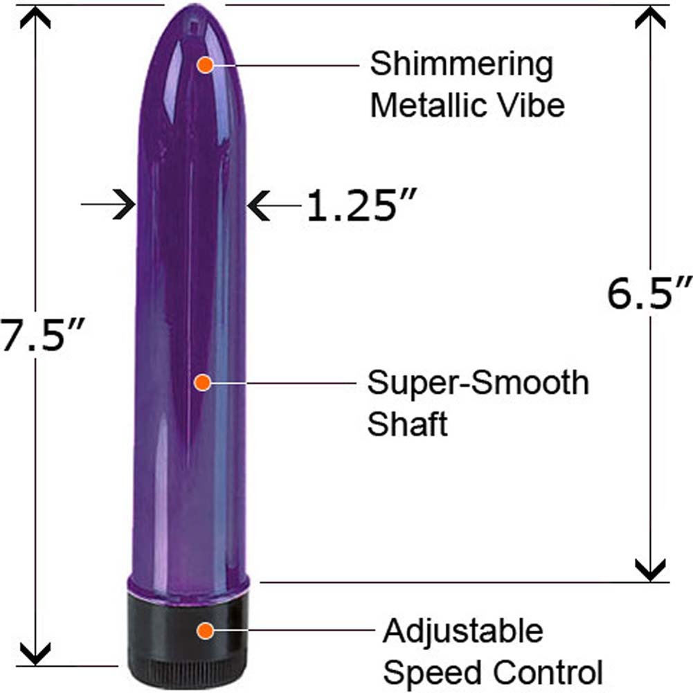 "Shimmering Metallic Vibe 7.5"" Purple - View #1"