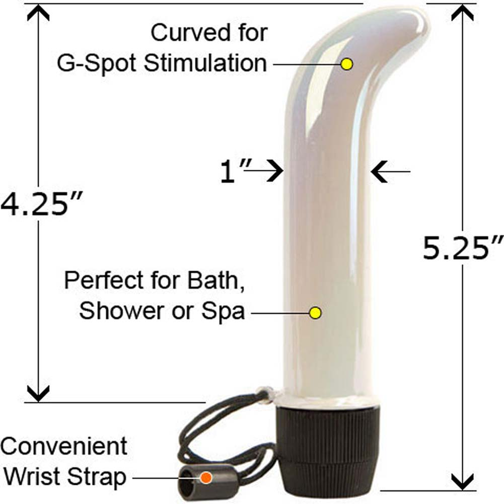 Skinny Mini G-Spot Waterproof Vibe Iridescent White 5.25 In. - View #1