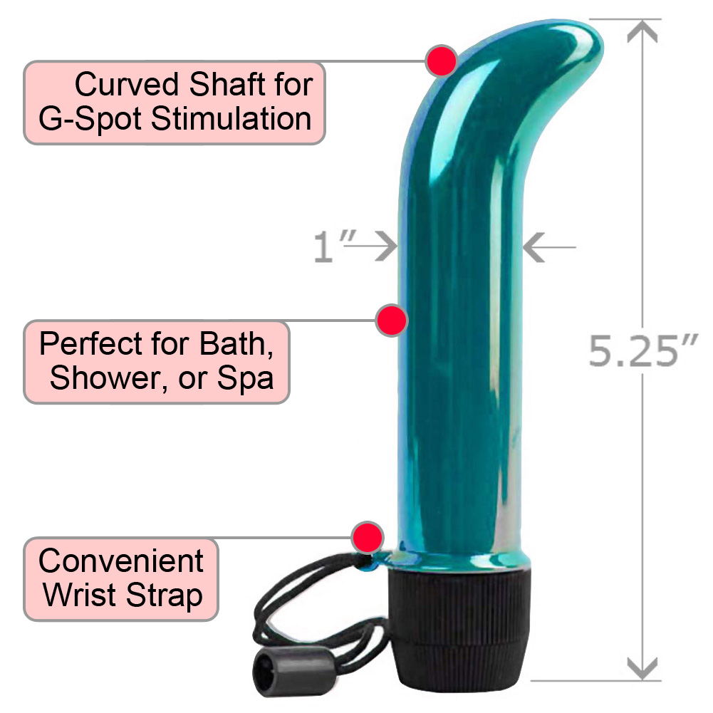 "Skinny Mini G-Spot Waterproof Vibrator for Women 5.25"" Iridescent Teal - View #1"