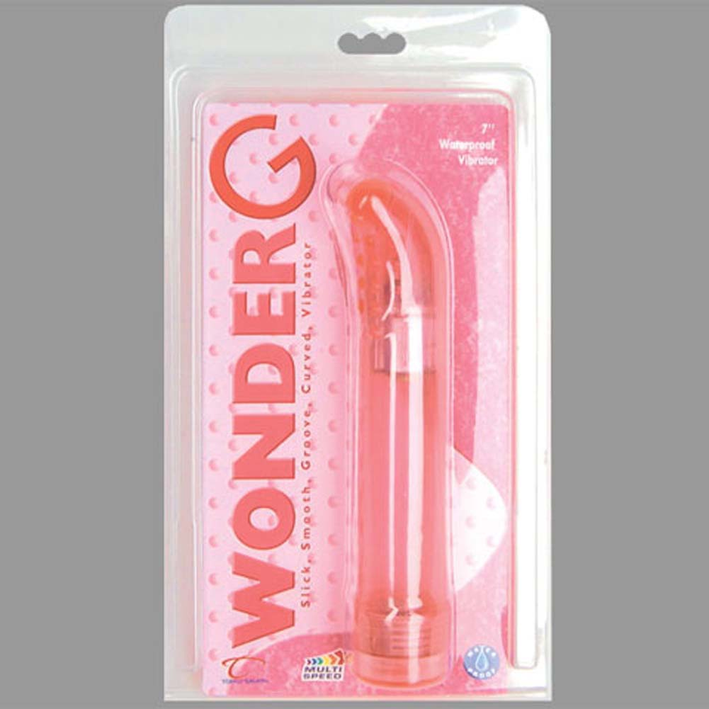 "Wonder G Waterproof Vibrator 7.75"" Pink - View #1"