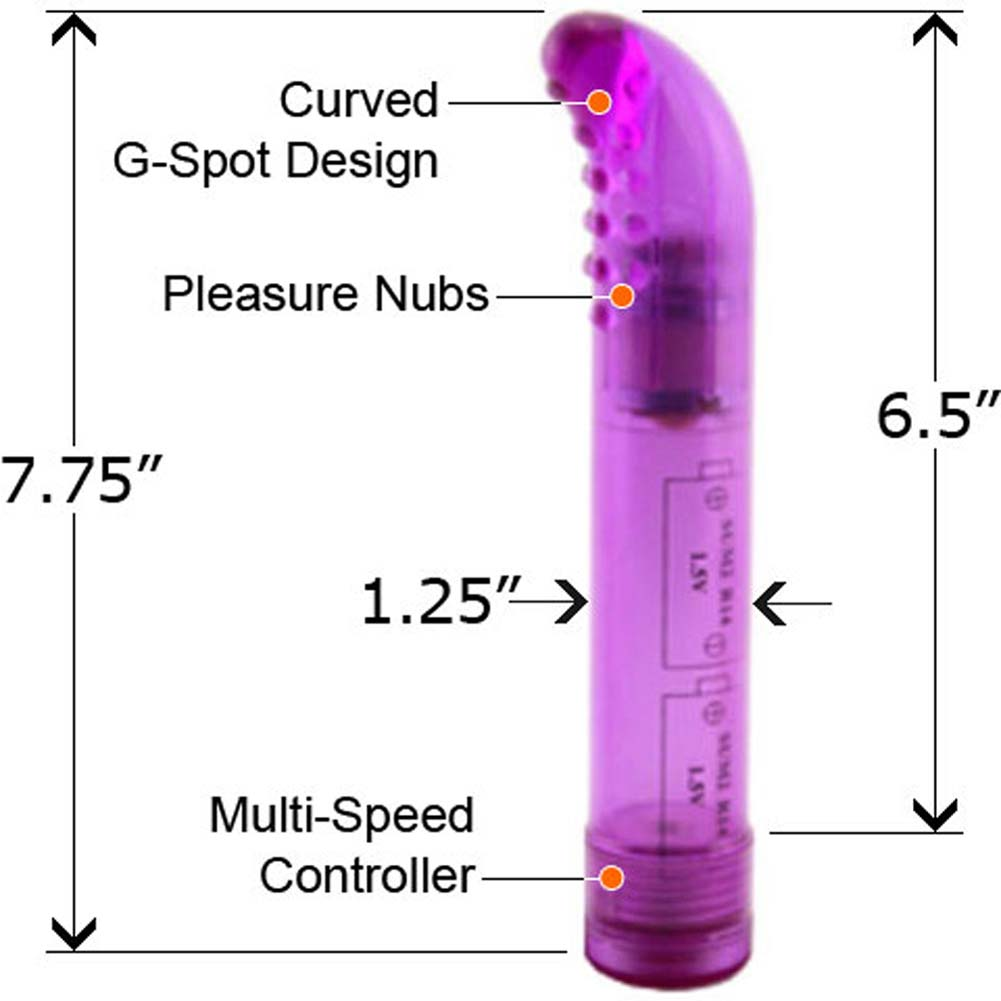 "Wonder G Waterproof Vibrator 7.75"" Purple - View #2"