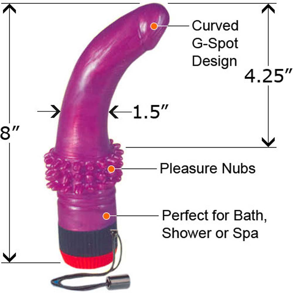 Shaylas Nympho Waterproof G-Spot Vibe 8 In. - View #3