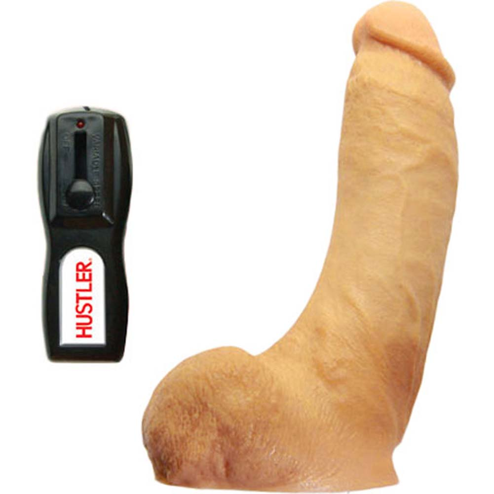 "Hustler Real Man Vibrating Rockin Rod 8.5"" Natural - View #1"