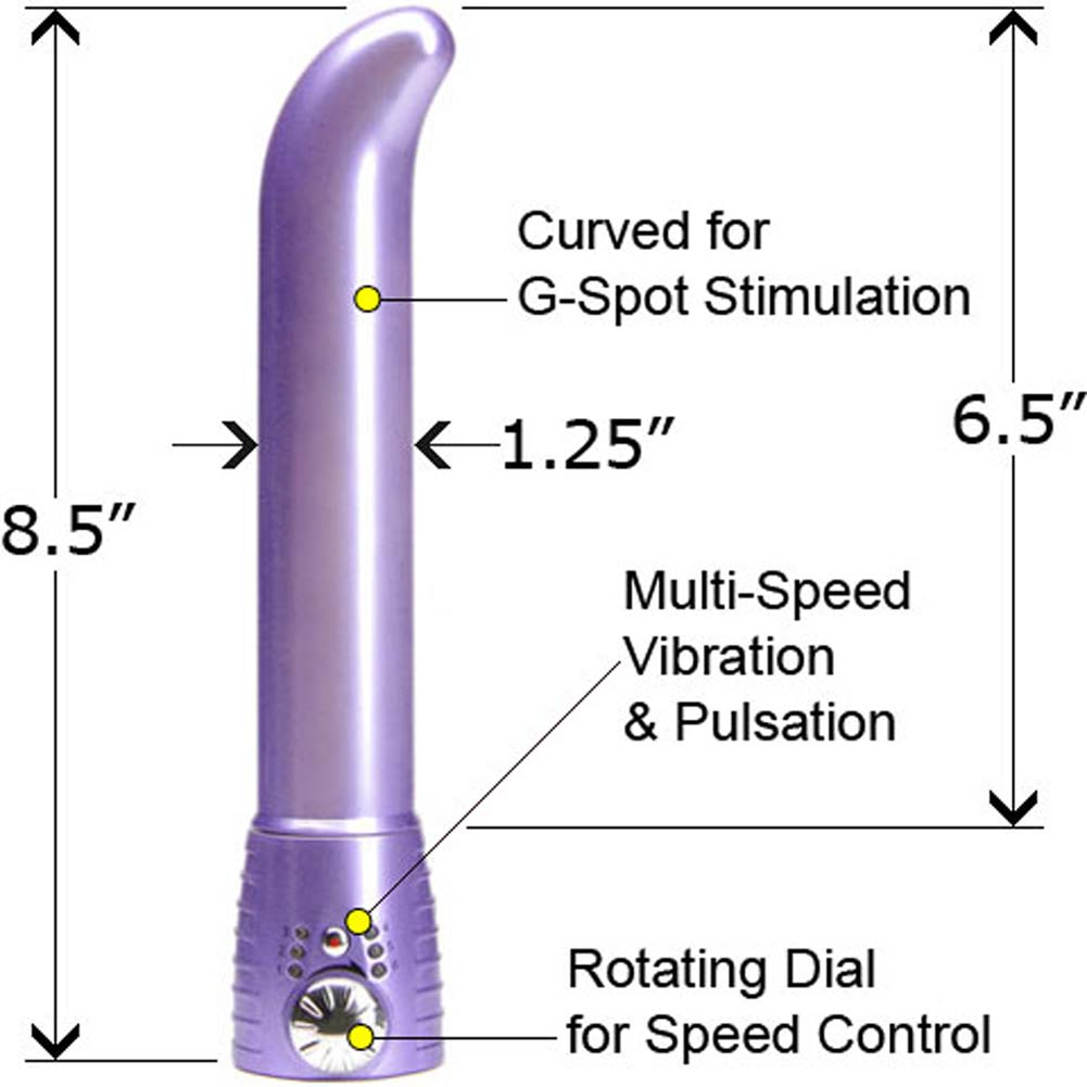 "Adam and Eve Satin G-Spot Intimate Vibrator for Women 8.5"" Soft Violet - View #1"