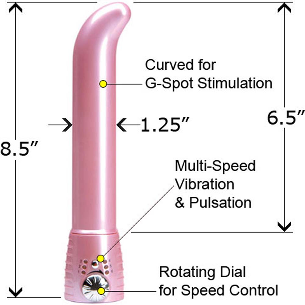 "Adam and Eve Satin G-Spot Intimate Vibrator for Women 8.5"" Soft Pink - View #1"