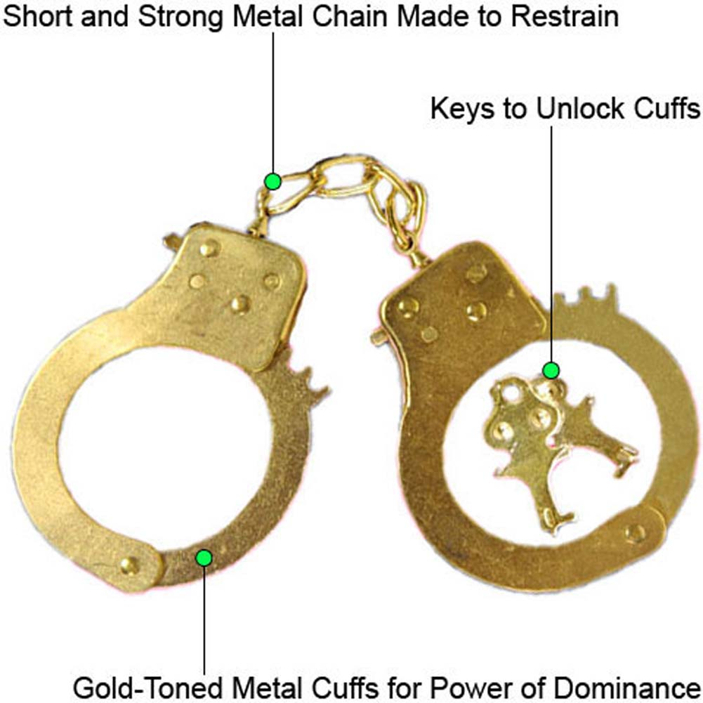 Restrained Passion Gold Cuffs by Penthouse - View #1
