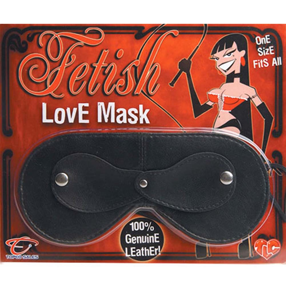 Fetish Leather Love Mask Black - View #4