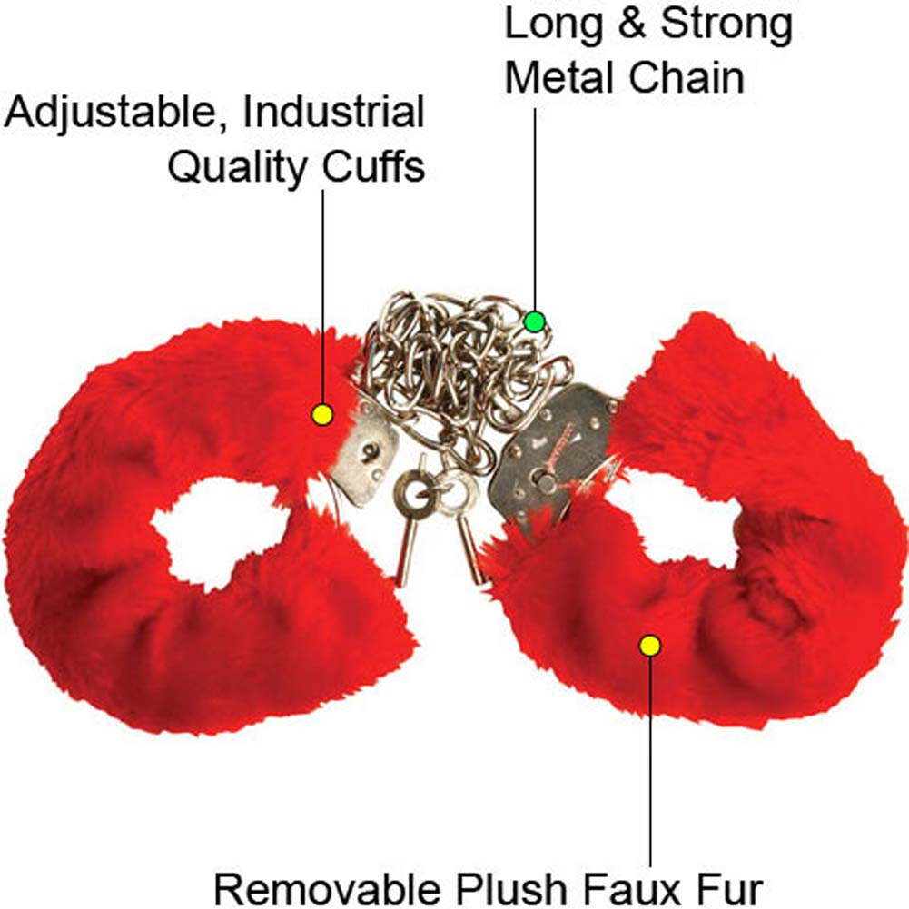 Captivity Cuffs by Penthouse Variations Restrained Red Fur - View #1