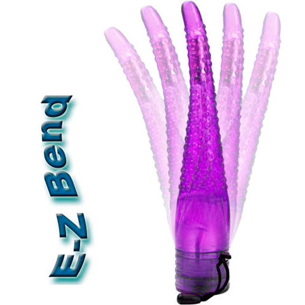 "Adam Eve Tingle Tip Intimate Flexi Vibe 8.5"" Purple - View #3"