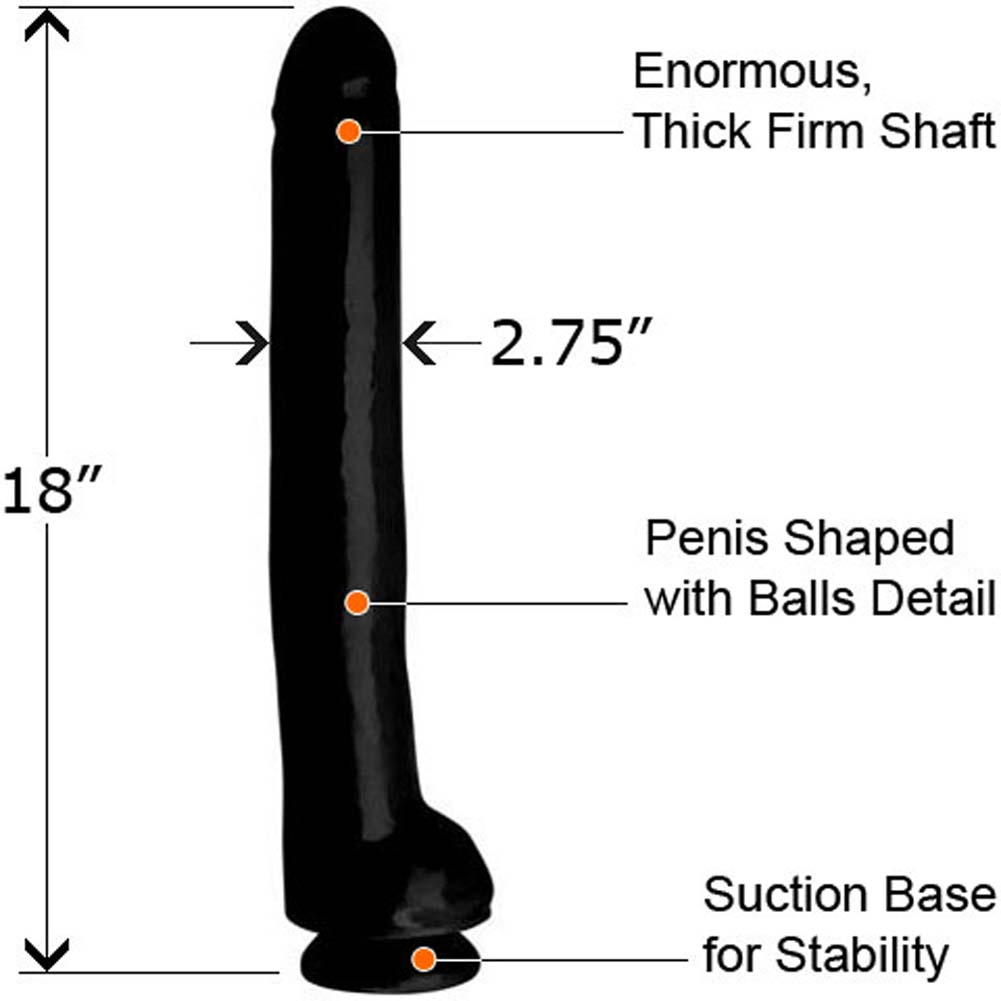 "Rascal Toys Excess Waterproof Dong 18"" Ebony - View #1"