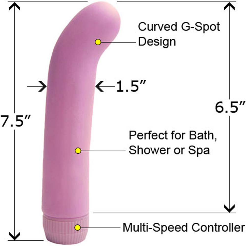 "PlayToys Waterproof Love G Vibe 7.5"" Lavender - View #1"