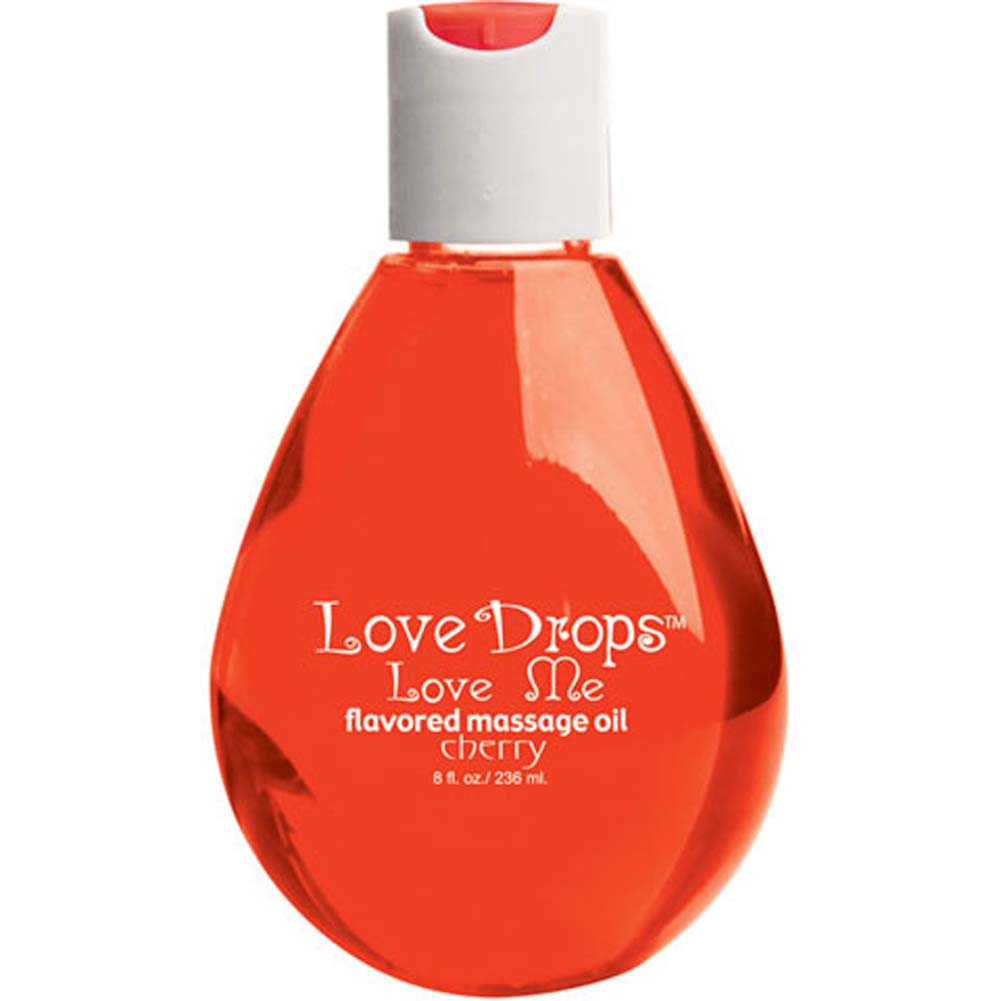 Love Drops Sweet Cherry Massage Oil 8 Fl. Oz. - View #2