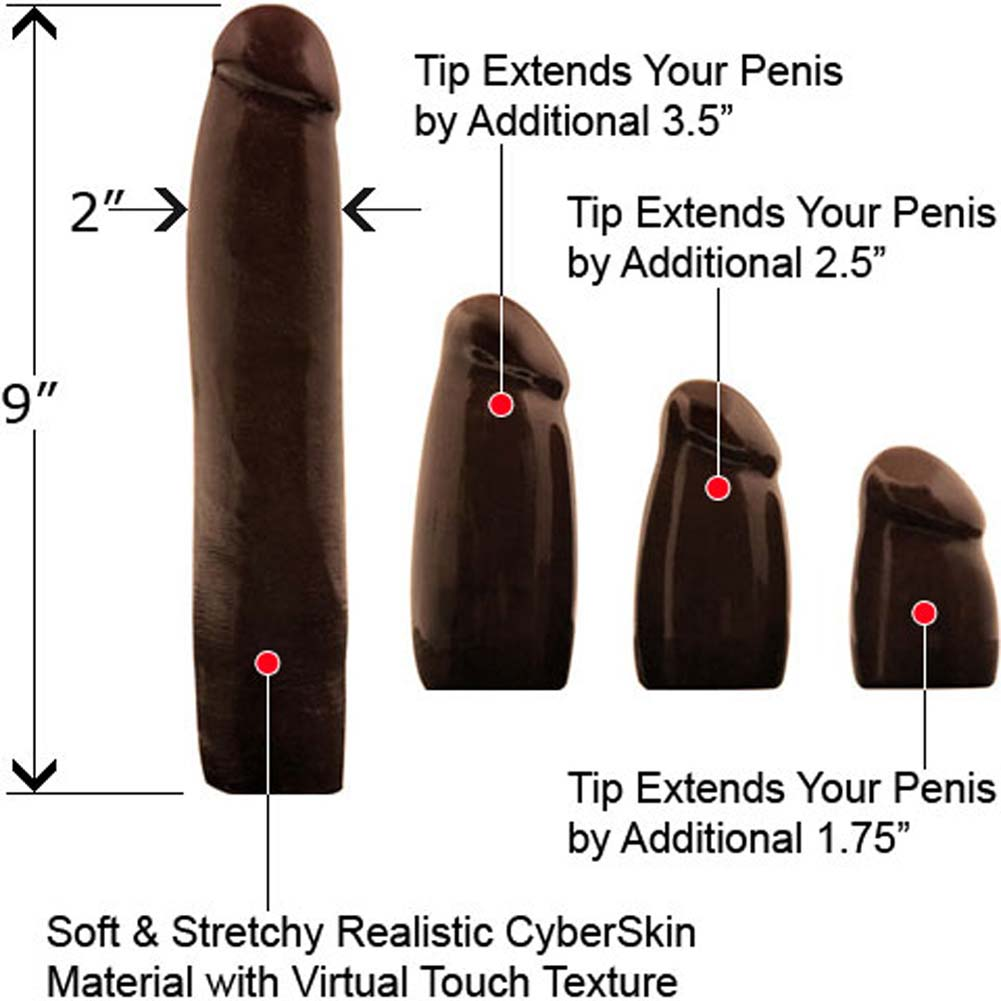 Lex Steele CyberSkin Waterproof Penis Extension Kit Black... - View #1