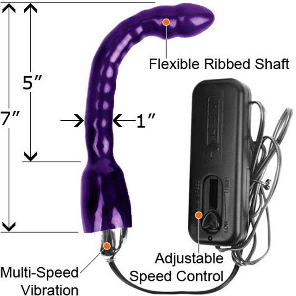 "Wild Thing Vibrating Bendable Anal Pleaser 7"" Purple - View #1"