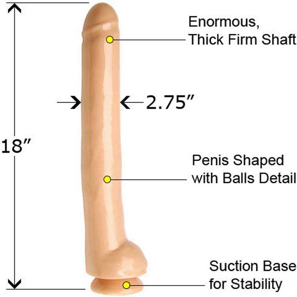 "Rascal Toys Excess Waterproof Dong 18"" Natural - View #1"
