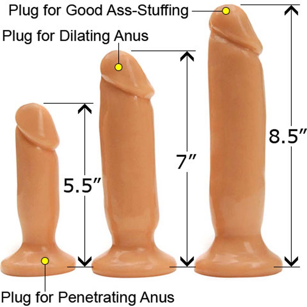 Rascal Toys Initiation Kit with 3 Anal Plugs Natural - View #1
