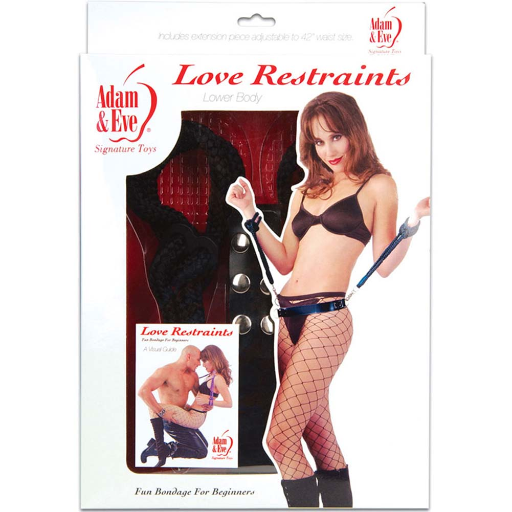 Adam and Eve Love Restraints Bondage Kit Black - View #4