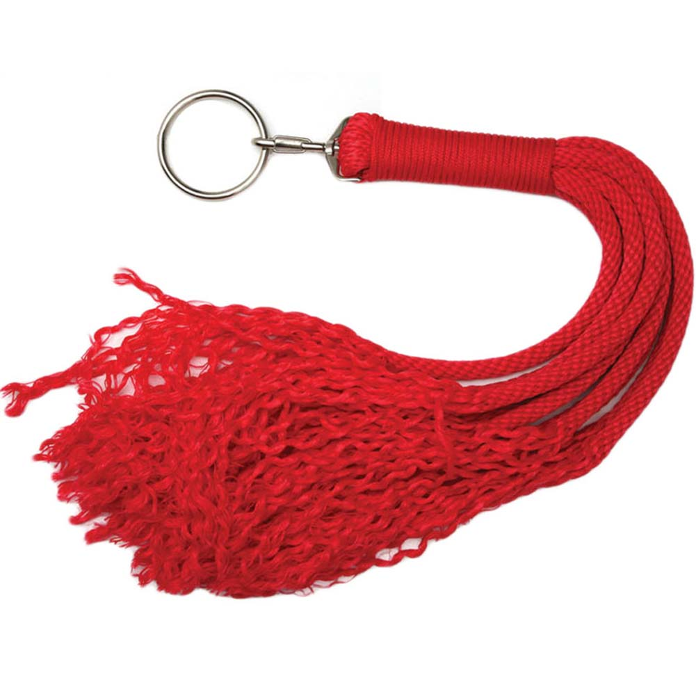 """Japanese Silk Love Rope Plaited Flogger 24"""" Red - View #2"""